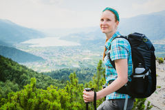 Hiking - Scenic Mountain View Stock Images