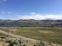 Hiking in the scenic mountains around the city of Kamloops. Hike in the Scenic Kamloops mountains Royalty Free Stock Photo