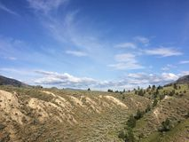 Hiking in the scenic mountains around the city of Kamloops Royalty Free Stock Image
