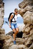 Hiking at sea Stock Photo