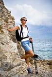 Hiking at sea Royalty Free Stock Photo