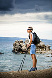 Hiking at sea Stock Photography