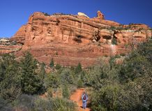 Hiking in Sedona Stock Photography