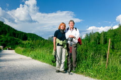 Hiking Senior Couple Royalty Free Stock Photo