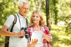 Hiking senior couple Royalty Free Stock Photography