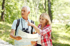 Hiking senior couple Stock Photography