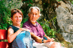 Hiking Senior Couple Royalty Free Stock Photos