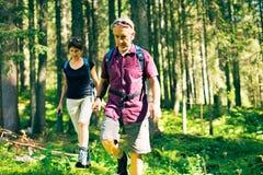Hiking Senior Couple Stock Photography