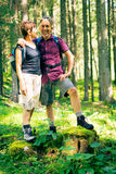 Hiking Senior Couple Stock Photos