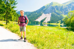 Hiking Senior Man Stock Photography