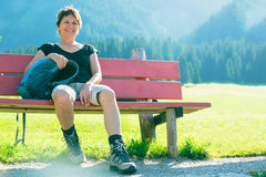 Hiking Senior Woman Stock Images