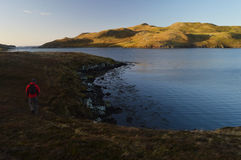 Hiking on Shetland Islands Stock Photography