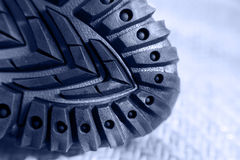 Hiking shoe rubber sole Stock Image