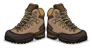 Hiking shoes royalty free illustration