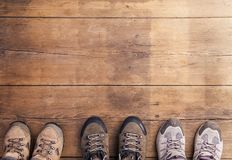 Hiking shoes Stock Image