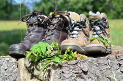 Hiking shoes Landscape Royalty Free Stock Photo