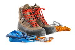 Hiking shoes Stock Photography