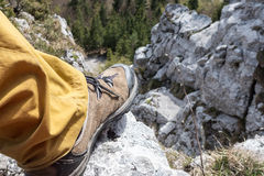 Hiking shoes on tour Stock Images