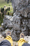 Hiking shoes on tour Royalty Free Stock Photography