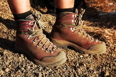 Hiking shoes Stock Image