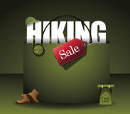 Hiking shopping bag background EPS 10 vector Royalty Free Stock Photo