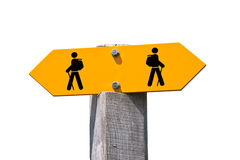 Hiking sign Royalty Free Stock Images