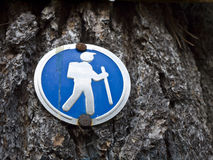 Hiking Sign - Trail Marker Royalty Free Stock Photo