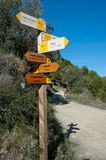 Hiking signpost Stock Photography