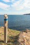 Hiking signpost Royalty Free Stock Photos