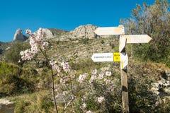 Hiking signpost Stock Photos
