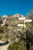 Hiking signpost Royalty Free Stock Image