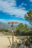 Hiking signpost Stock Image