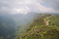 Hiking in the Simien Mountains, Ethiopia Stock Photo