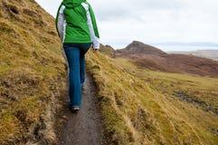 hiking skye острова стоковое изображение