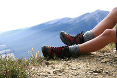 Hiking in the South Island, New Zealand Royalty Free Stock Photography