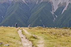 Hiking in the South Island, New Zealand Stock Photos