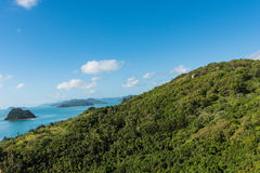 Hiking on South Molle Island, part of the Whitsunday Islands in Australia Royalty Free Stock Photography