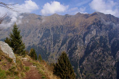 Hiking in South Tyrol, Italy Stock Image