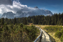 Hiking in South Tyrol Stock Photos