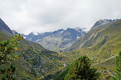 Hiking in the Stubai Alps in Austria Stock Photography