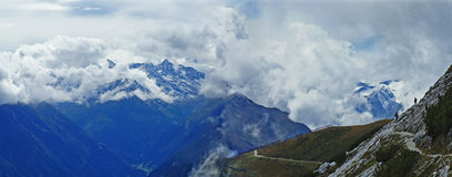 Hiking in the Stubai Alps Royalty Free Stock Photography