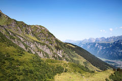 Hiking in swiss alps Royalty Free Stock Images