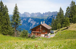 Hiking in swiss alps Stock Photography
