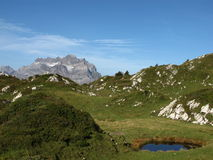 Hiking in Switzerland Royalty Free Stock Image