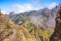 Hiking tail passge - colorful volcanic mountain landscape Royalty Free Stock Images