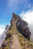 Hiking tail - rock stairs Royalty Free Stock Photography