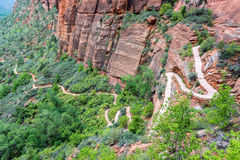 Hiking Tail in Zion Royalty Free Stock Photo