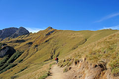 Hiking in the Tannheim Mountains Royalty Free Stock Image