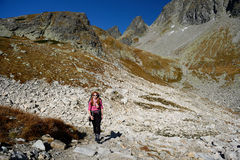 Hiking in Tatra Mountains Royalty Free Stock Photo