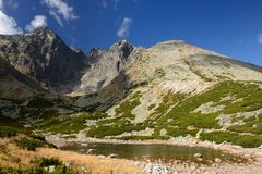 Hiking in Tatra Mountains Royalty Free Stock Image